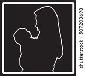 mother and baby icon | Shutterstock .eps vector #507203698