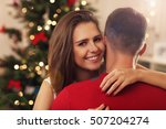picture of young couple hugging ... | Shutterstock . vector #507204274