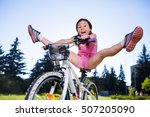portrait of a playful funny... | Shutterstock . vector #507205090