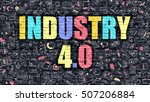 multicolor concept   industry 4.... | Shutterstock . vector #507206884