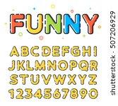 funny sketchy vector font in... | Shutterstock .eps vector #507206929