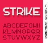 modern vector monoline font.... | Shutterstock .eps vector #507206974