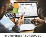 order summary payslip purchase... | Shutterstock . vector #507209110