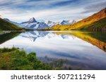 panorama of mt. schreckhorn and ... | Shutterstock . vector #507211294