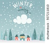 winter is coming  background | Shutterstock .eps vector #507211810