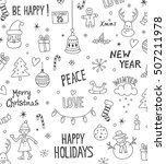 merry christmas and happy new... | Shutterstock .eps vector #507211978