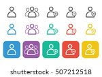 user icon set for web and mobile | Shutterstock .eps vector #507212518