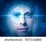 high tech face scan | Shutterstock . vector #507216880