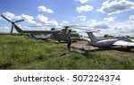 old abandoned planes and