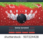 bowl tournament and christmas... | Shutterstock .eps vector #507224428