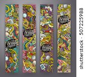cartoon cute colorful vector... | Shutterstock .eps vector #507225988