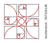 golden section formes pattern... | Shutterstock .eps vector #507226138