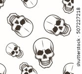 human skull vector seamless...   Shutterstock .eps vector #507227218