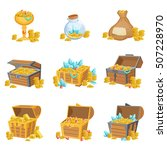 treasure and riches set of... | Shutterstock .eps vector #507228970
