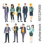 young professionals set of cool ... | Shutterstock .eps vector #507229300