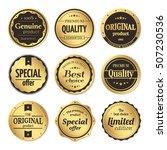 vector set of classic gold... | Shutterstock .eps vector #507230536