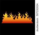 flame tattoo tribal vector... | Shutterstock .eps vector #507232024