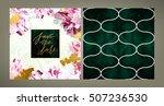 set of trendy vector wedding... | Shutterstock .eps vector #507236530