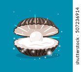 glitter shell with pearl inside ...   Shutterstock .eps vector #507236914
