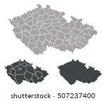 map of czech republic | Shutterstock .eps vector #507237400