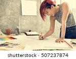 design studio architect... | Shutterstock . vector #507237874