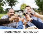 group of people cheers concept | Shutterstock . vector #507237964