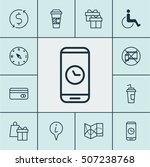 set of transportation icons on... | Shutterstock .eps vector #507238768
