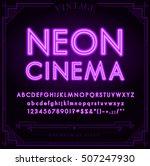 bright neon alphabet letters ... | Shutterstock .eps vector #507247930