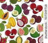 fruits vector seamless pattern...   Shutterstock .eps vector #507249718