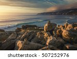 seascape at guincho beach and... | Shutterstock . vector #507252976