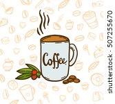 coffee elements  coffee... | Shutterstock .eps vector #507255670