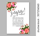 wedding invitation printable... | Shutterstock .eps vector #507256060