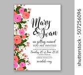wedding invitation printable... | Shutterstock .eps vector #507256096