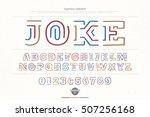 ethnic style alphabet letters... | Shutterstock .eps vector #507256168