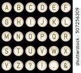 vector vintage typewriter... | Shutterstock .eps vector #507256309