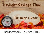 daylight savings time message ... | Shutterstock . vector #507256483