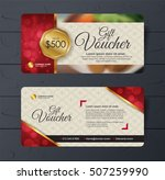 gift voucher template with... | Shutterstock .eps vector #507259990