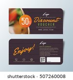discount voucher template with... | Shutterstock .eps vector #507260008