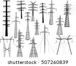 illustration with electric... | Shutterstock .eps vector #507260839