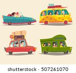 traveling by car  cabriolet ... | Shutterstock .eps vector #507261070