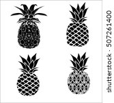pineapple set   vector ... | Shutterstock .eps vector #507261400