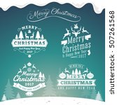 set of christmas decoration... | Shutterstock .eps vector #507261568