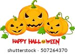 halloween pumpkin cartoon  | Shutterstock .eps vector #507264370