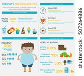 obesity infographic template  ... | Shutterstock .eps vector #507264886
