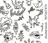 old school tattoos seamless... | Shutterstock .eps vector #507267373