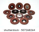 flap sanding grinding discs... | Shutterstock . vector #507268264