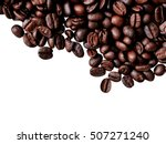 coffee beans isolated on a... | Shutterstock . vector #507271240