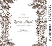 wisteria flower background.... | Shutterstock .eps vector #507277150