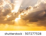 sun beams or rays breaking... | Shutterstock . vector #507277528