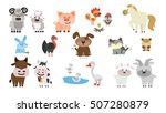 farm animals set. isolated home ... | Shutterstock .eps vector #507280879